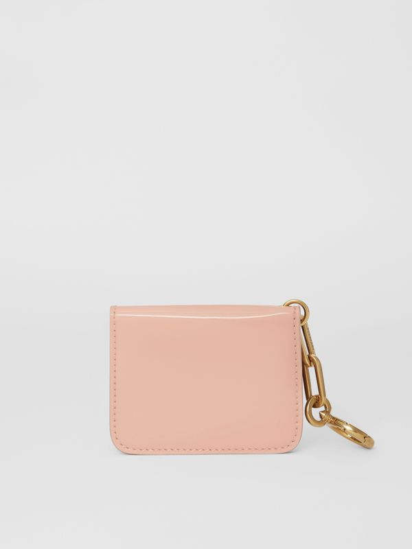 Link Detail Patent Leather ID Card Case Charm in Pale Fawn Pink - Women | Burberry United States - cell image 2