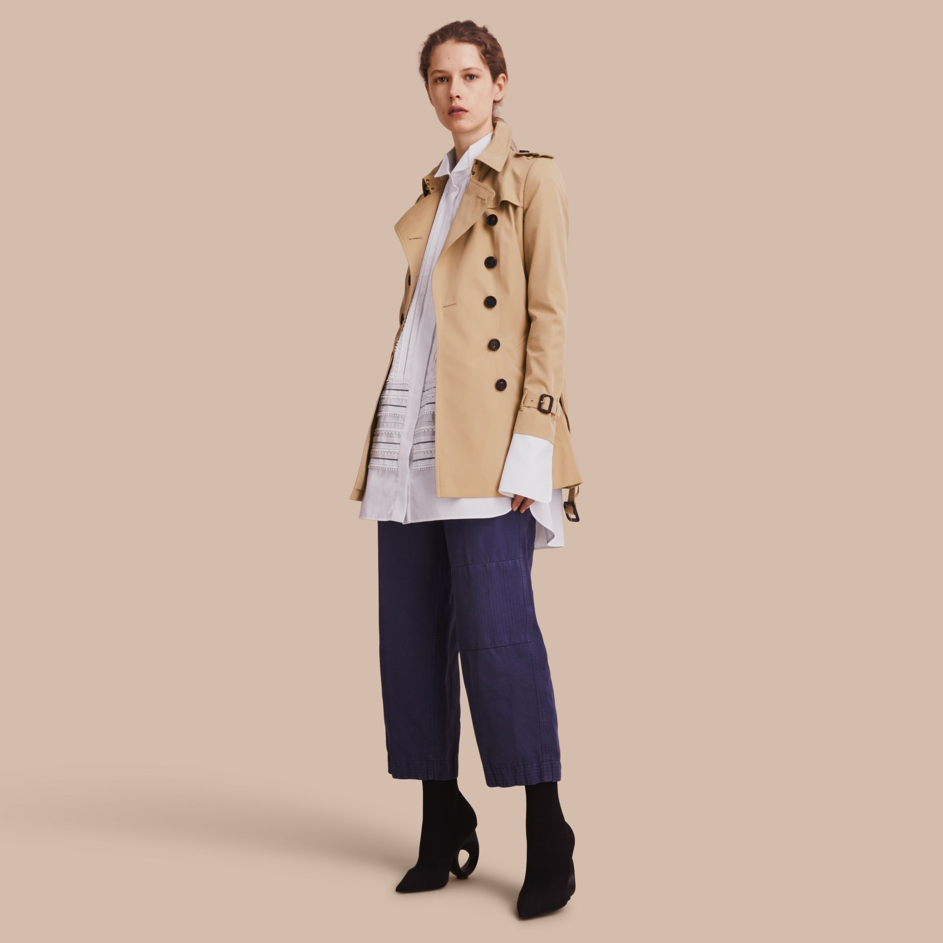 Honey The Chelsea – Short Heritage Trench Coat Honey - gallery image 1