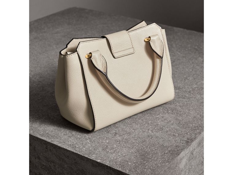 The Small Buckle Tote in Grainy Leather in Limestone - Women | Burberry Australia - cell image 4