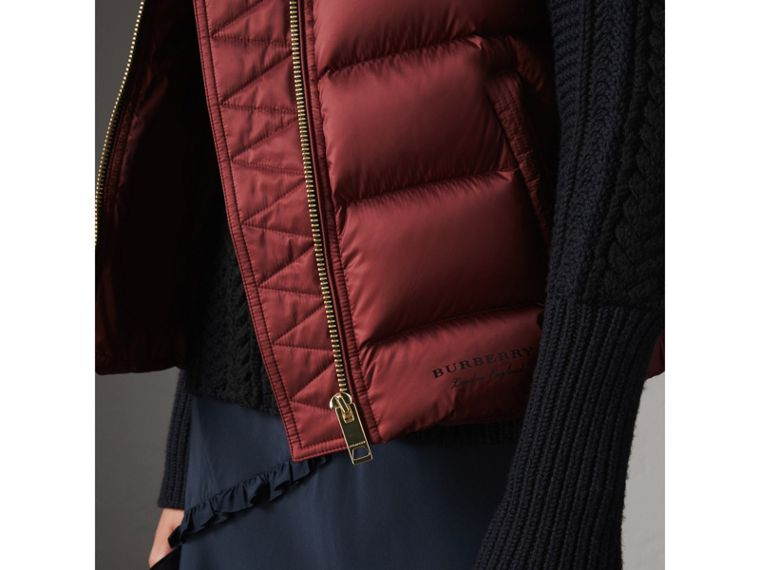 Down-filled Gilet in Military Red - Women | Burberry Singapore - cell image 1