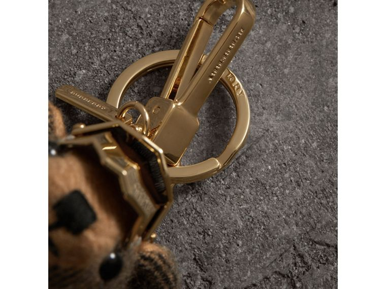 Thomas Bear Charm with Knight Armour Detail in Camel Check | Burberry United Kingdom - cell image 1