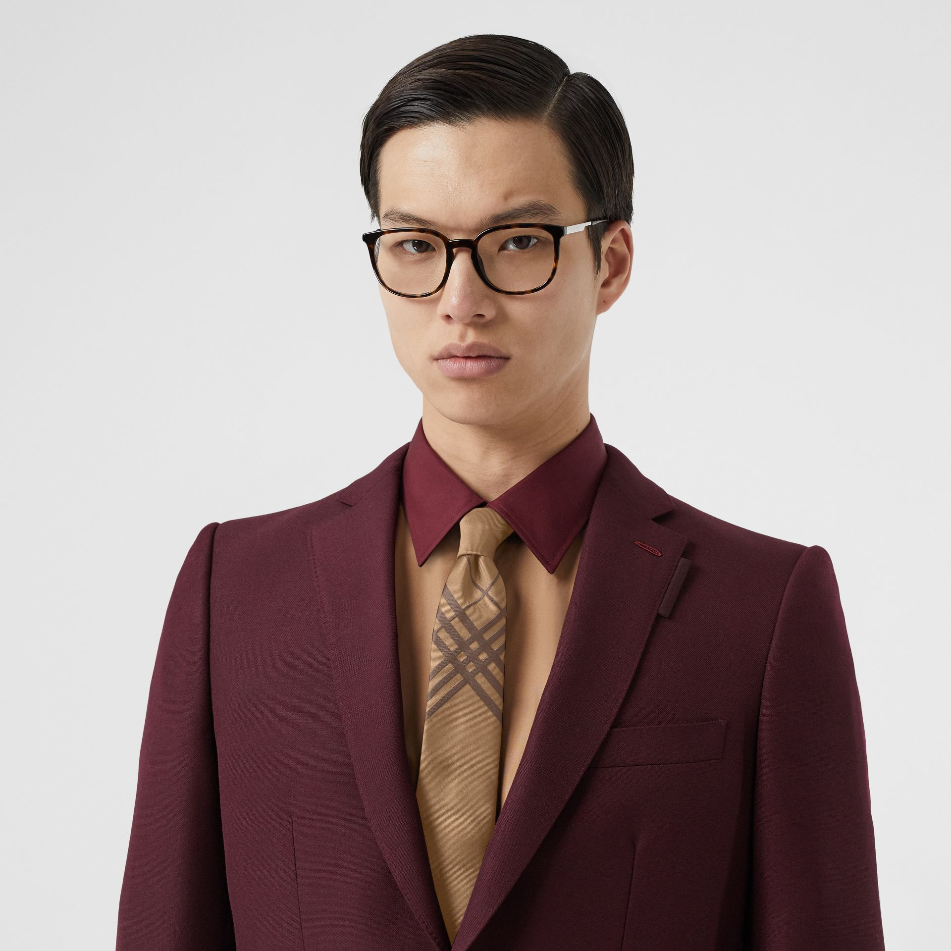Cravate classique en jacquard de soie check (Caramel) - Homme | Burberry Canada - photo de la galerie 2