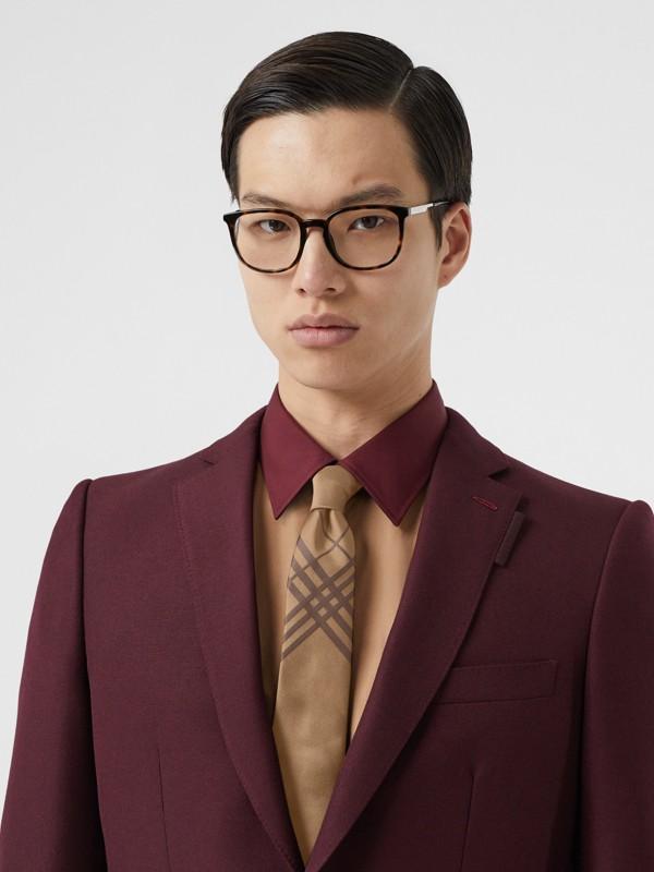 Cravatta classica in jacquard di seta con motivo tartan (Caramello) - Uomo | Burberry - cell image 2