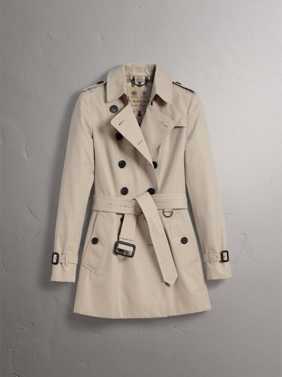 The Chelsea – Short Trench Coat in Stone - Women | Burberry - cell image 3