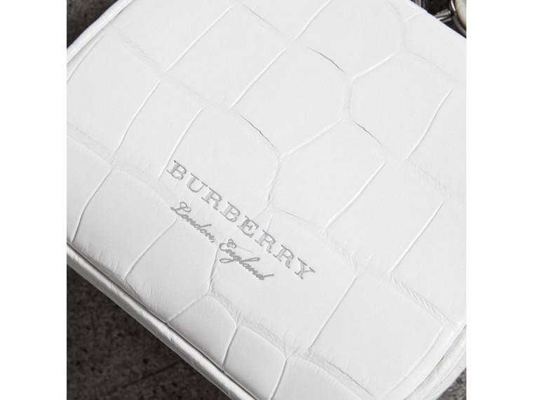 Mini Alligator Frame Bag in White - Women | Burberry United Kingdom - cell image 1