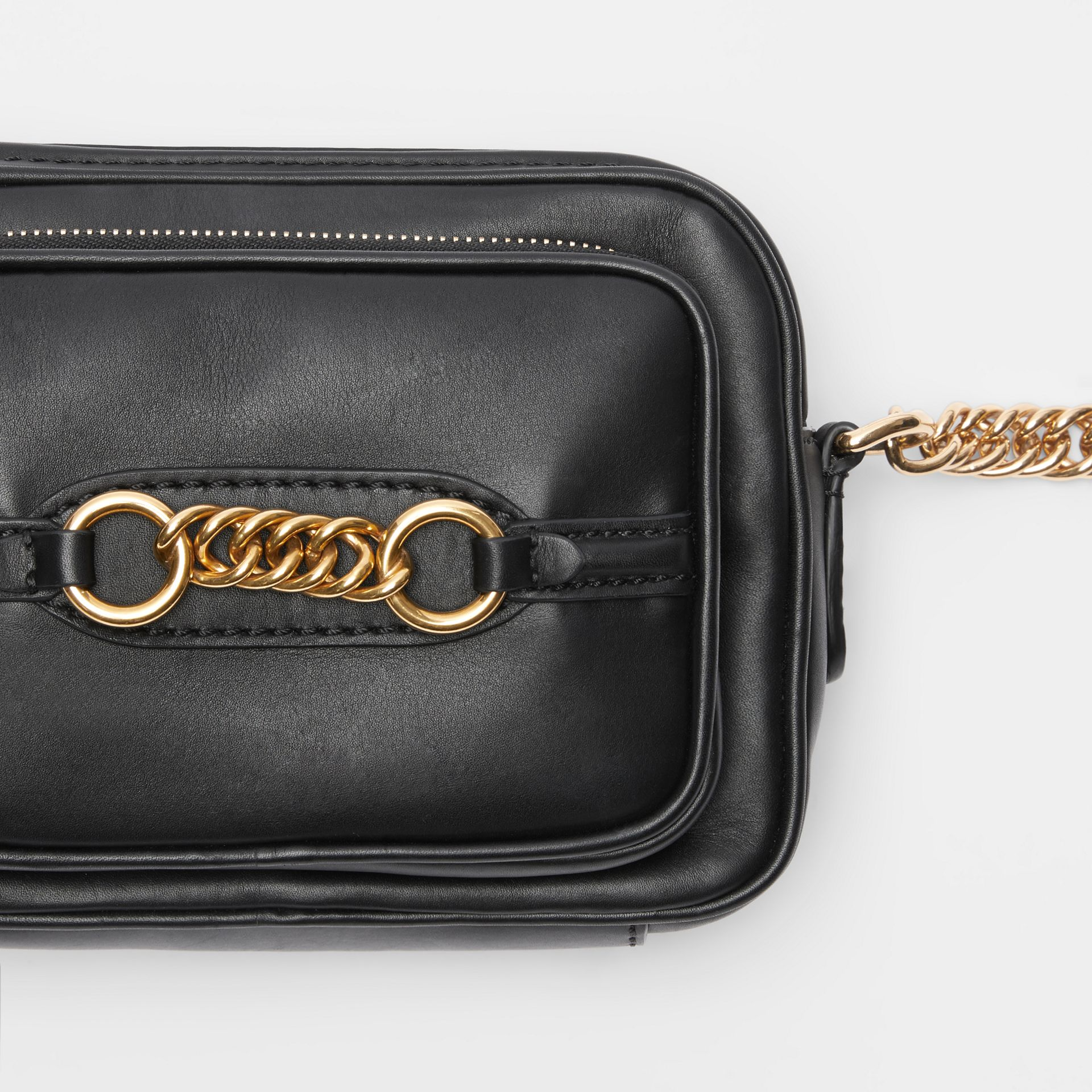 Leather Link Camera Bag in Black - Women | Burberry - gallery image 1