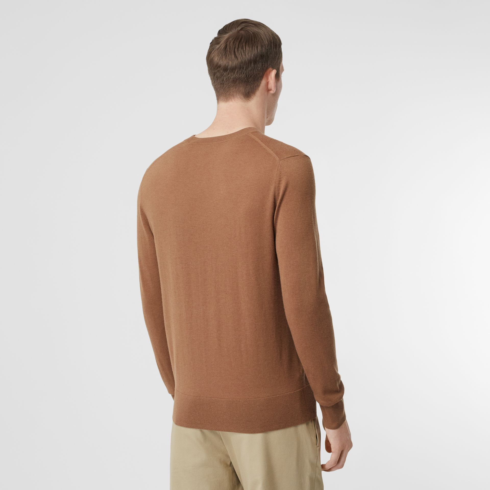 Monogram Motif Cashmere Sweater in Maple - Men | Burberry - gallery image 2