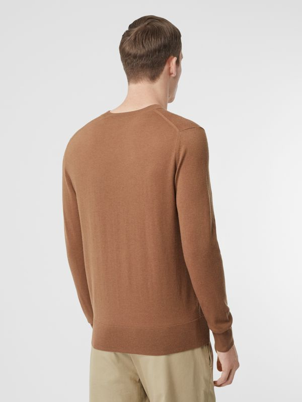 Monogram Motif Cashmere Sweater in Maple - Men | Burberry United Kingdom - cell image 2