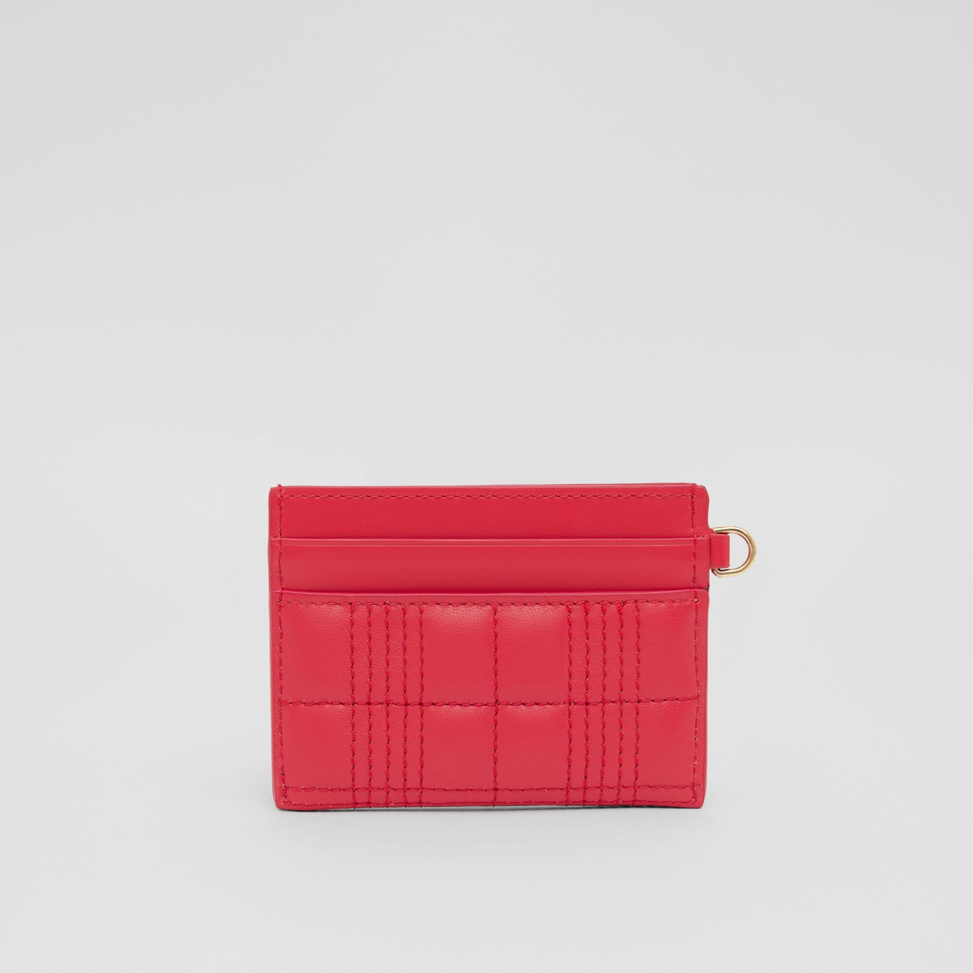 Monogram Motif Quilted Lambskin Card Case in Bright Red - Women | Burberry Hong Kong S.A.R - gallery image 4