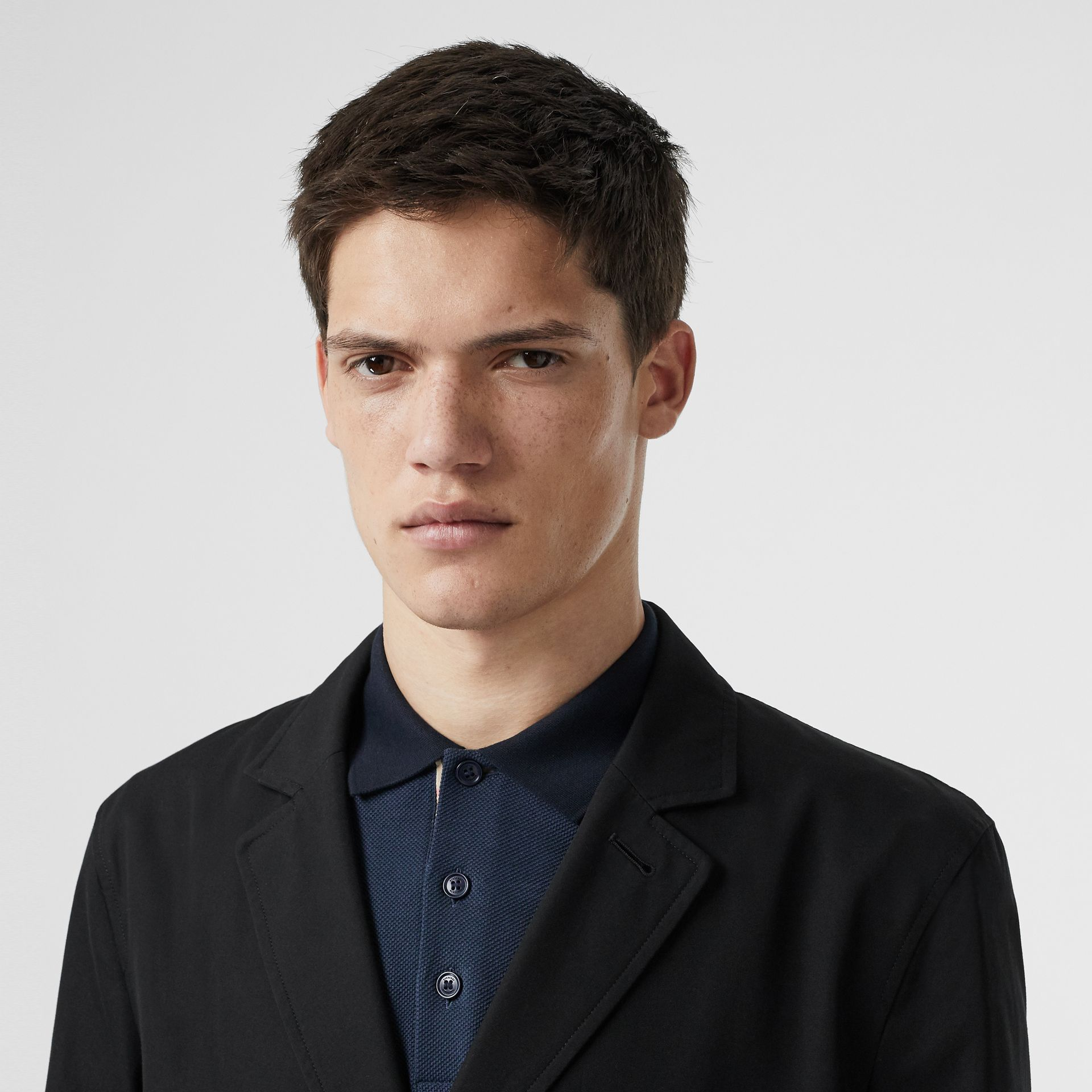 Cotton Gabardine Car Coat in Black - Men | Burberry Australia - gallery image 1