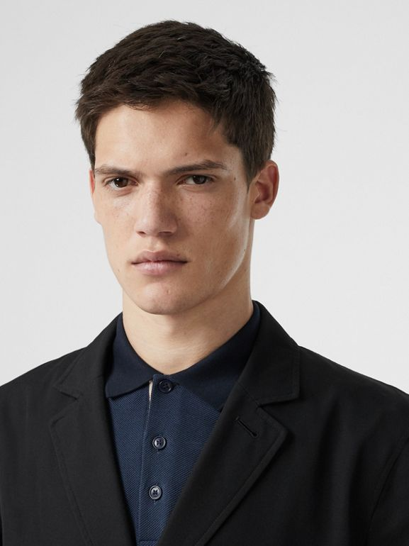 Cotton Gabardine Lab Coat in Black - Men | Burberry Australia - cell image 1