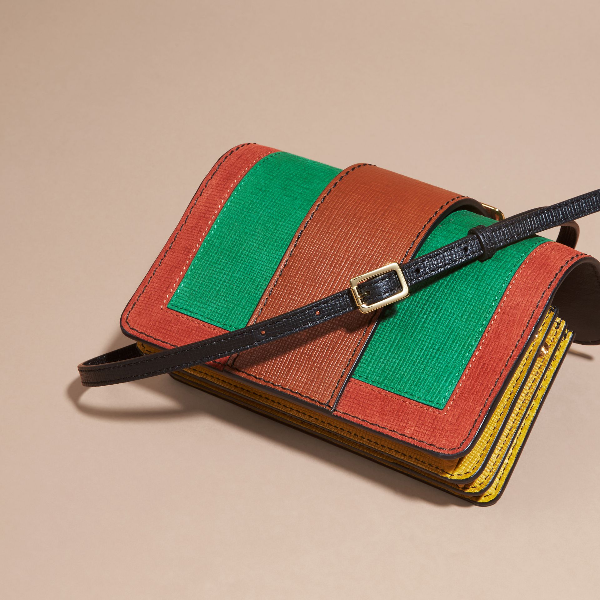 The Small Buckle Bag in Textured Leather in Bright Green - gallery image 5
