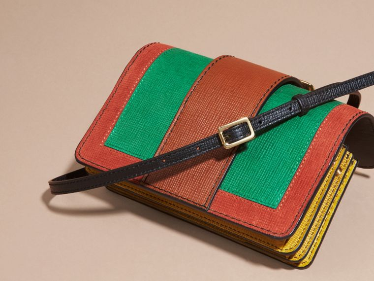 The Small Buckle Bag in Textured Leather in Bright Green - cell image 4
