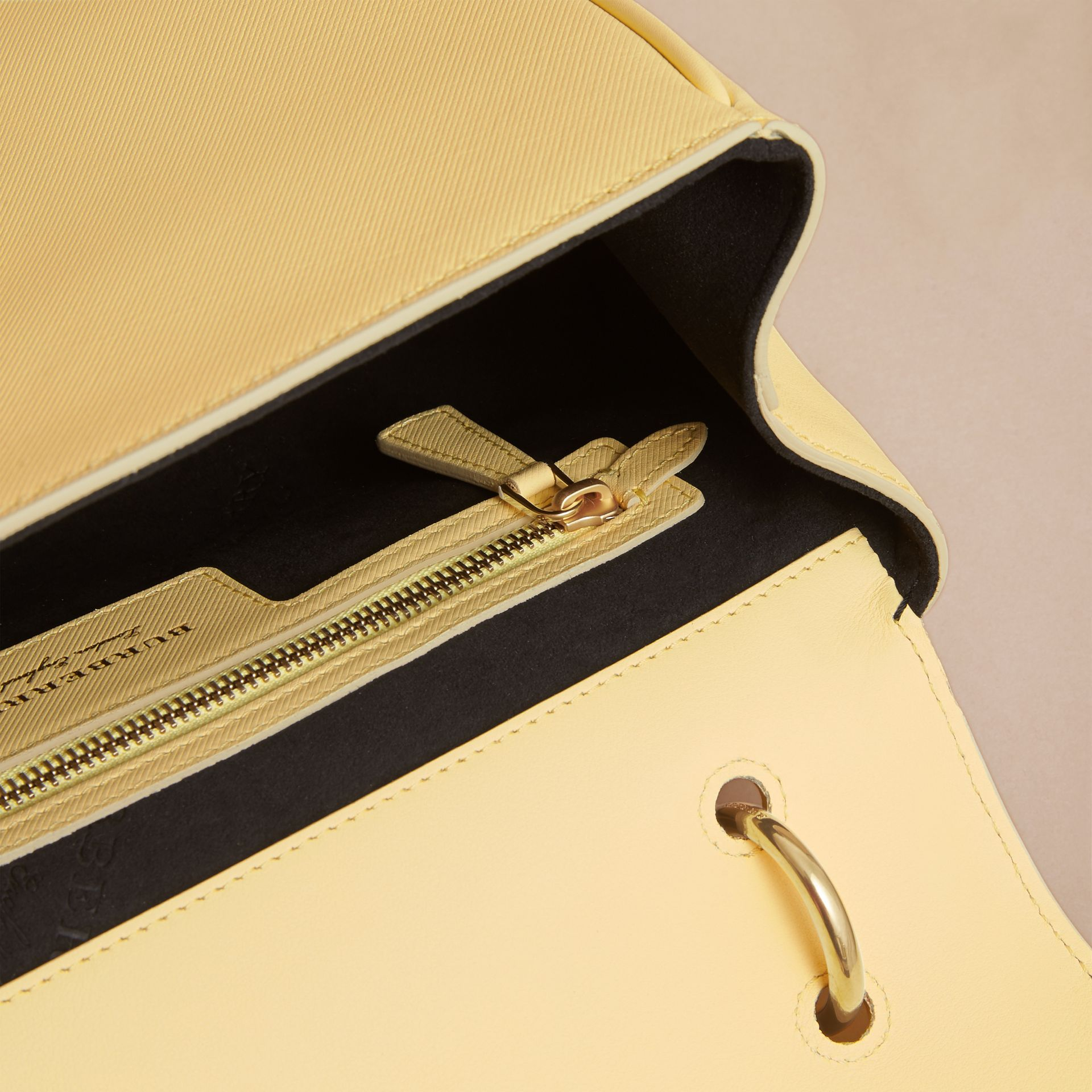 The Medium DK88 Top Handle Bag in Camomile Yellow - Women | Burberry - gallery image 4
