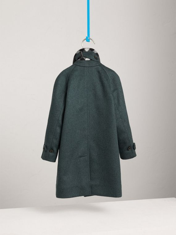 Raglan-sleeve Cashmere Car Coat in Bright Bottle Green - Boy | Burberry - cell image 3