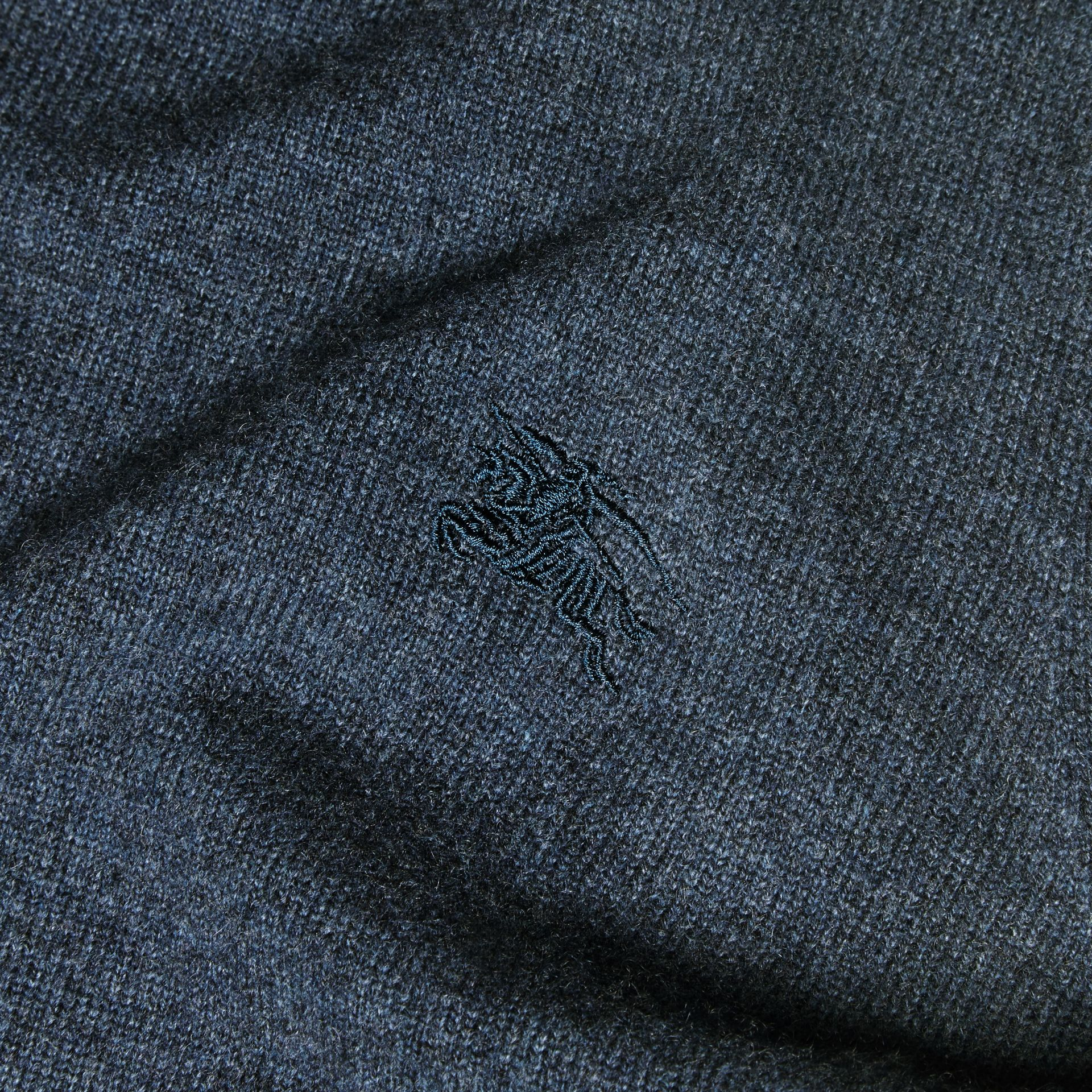 Crew Neck Cashmere Sweater Airforce Blue - gallery image 2