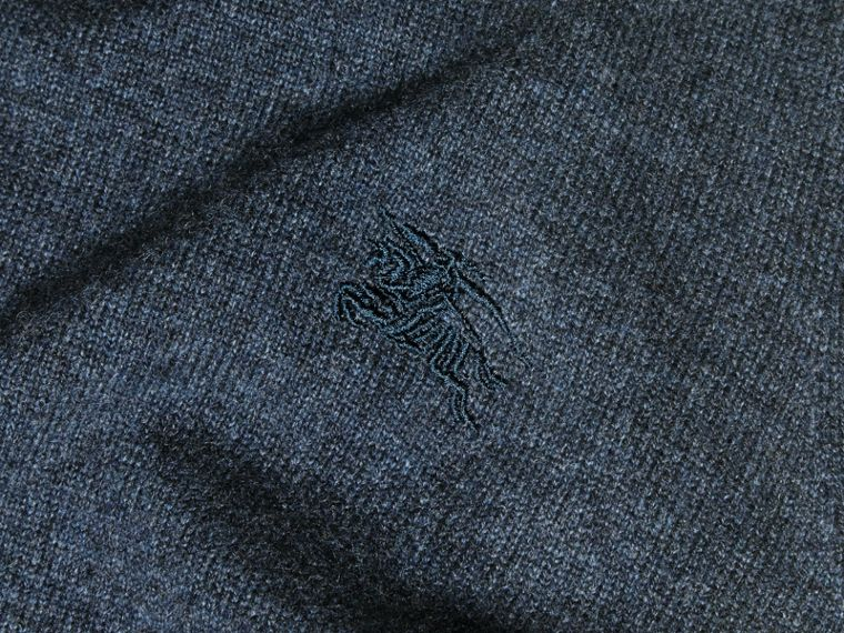 Crew Neck Cashmere Sweater Airforce Blue - cell image 1