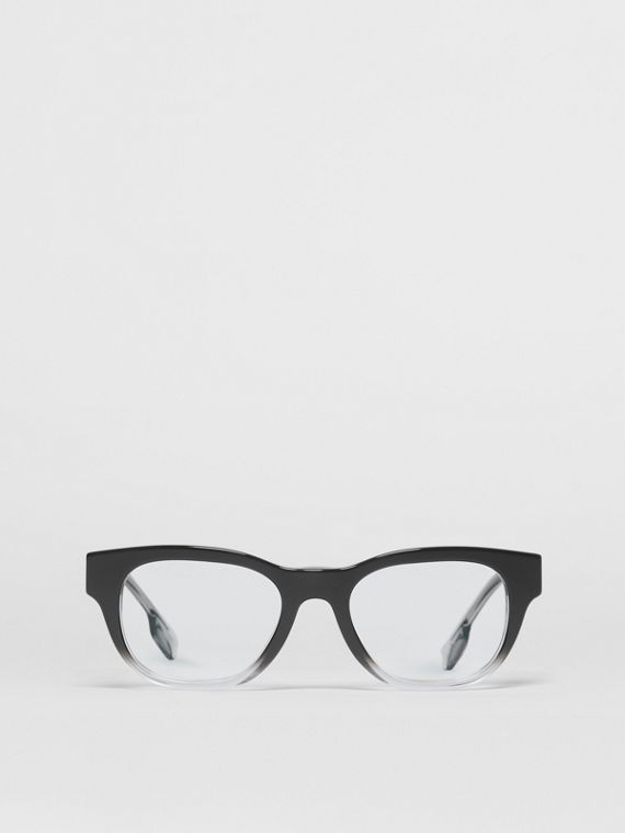 Square Optical Frames in Black