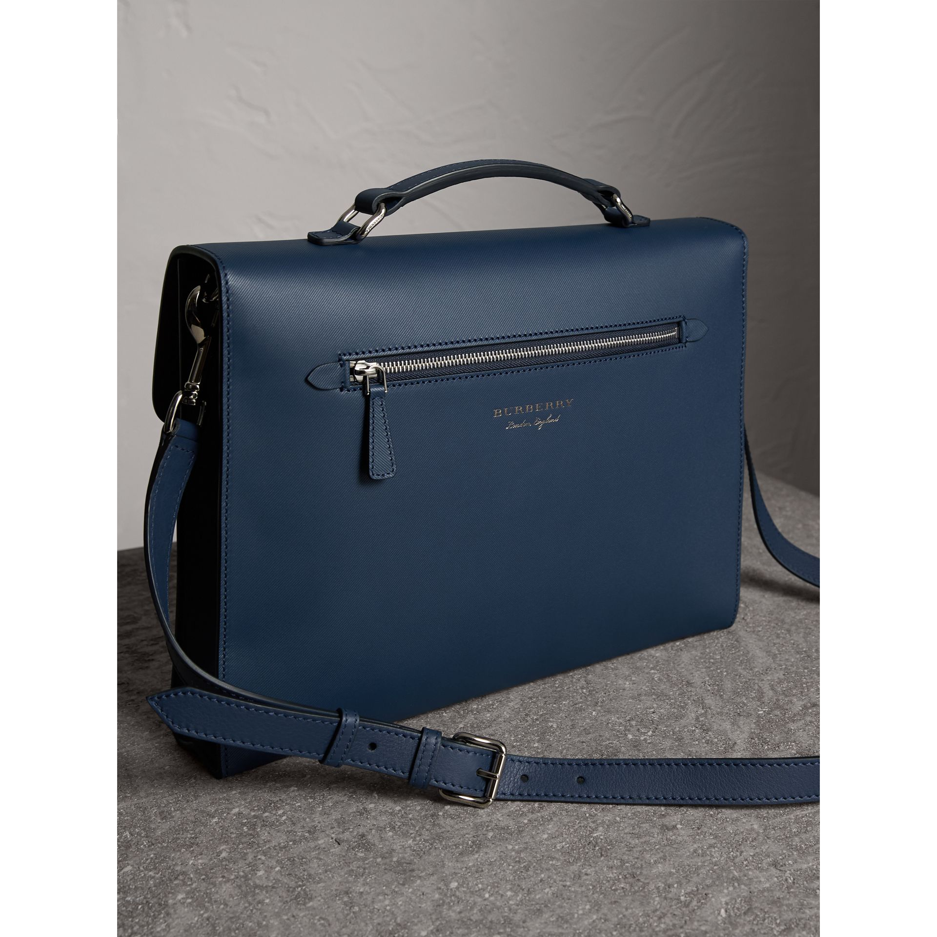 The Large DK88 Document Case in Ink Blue - Men | Burberry - gallery image 4