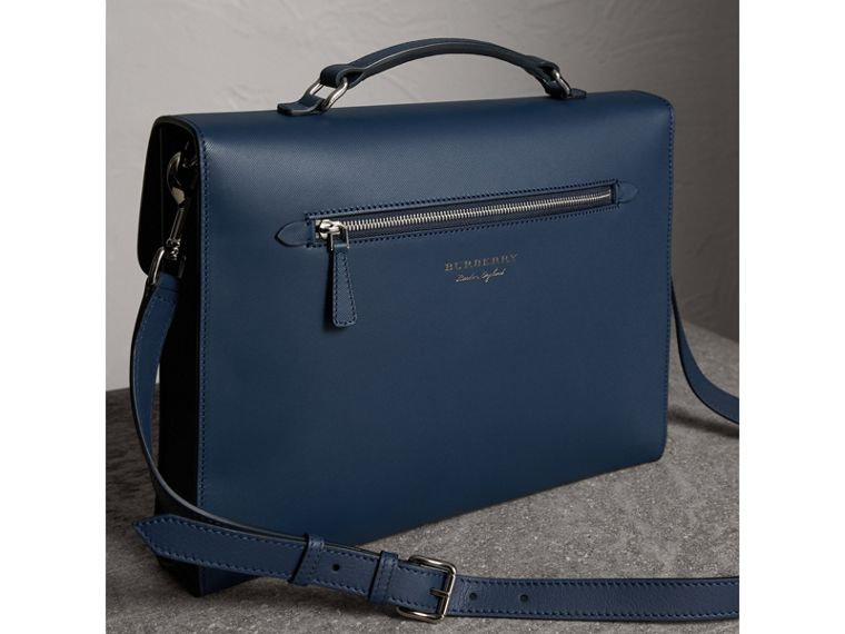 The Large DK88 Document Case in Ink Blue - Men | Burberry - cell image 4