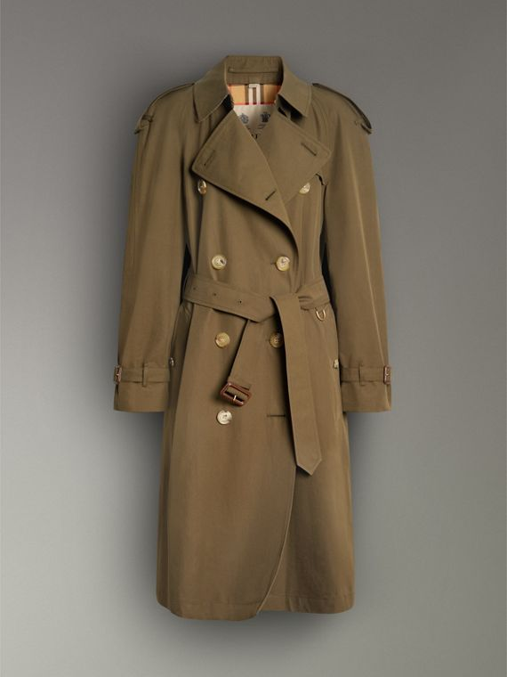 The Westminster Heritage Trench Coat in Dark Military Khaki - Women | Burberry - cell image 3