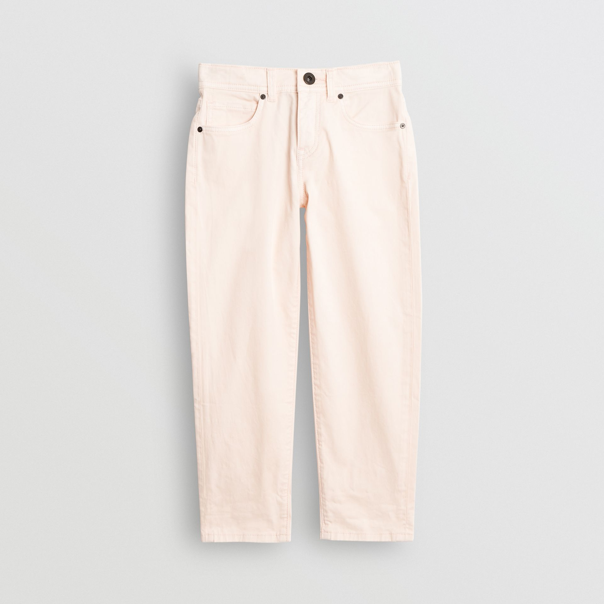 Relaxed Fit Stretch Denim Jeans in Pale Rose Pink - Girl | Burberry Singapore - gallery image 0
