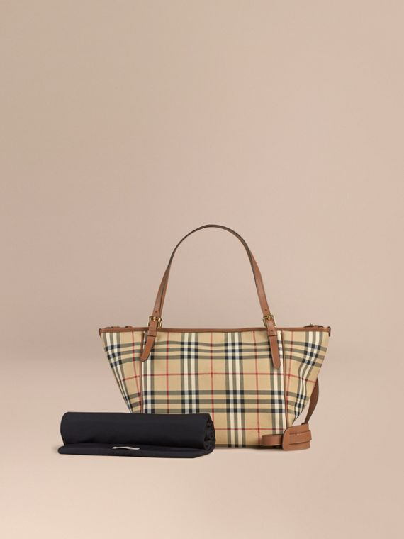 Bolso tote cambiador con estampado de checks Horseferry | Burberry
