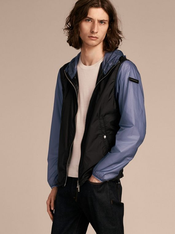 Ultra-lightweight Two-tone Jacket with Hood