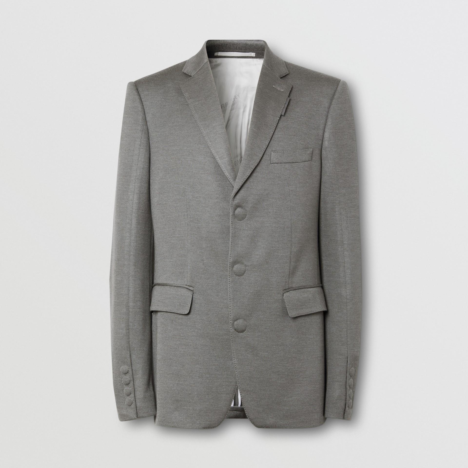 イングリッシュフィット カシミアシルクジャージー テーラードジャケット (クラウドグレー) | バーバリー - ギャラリーイメージ 3