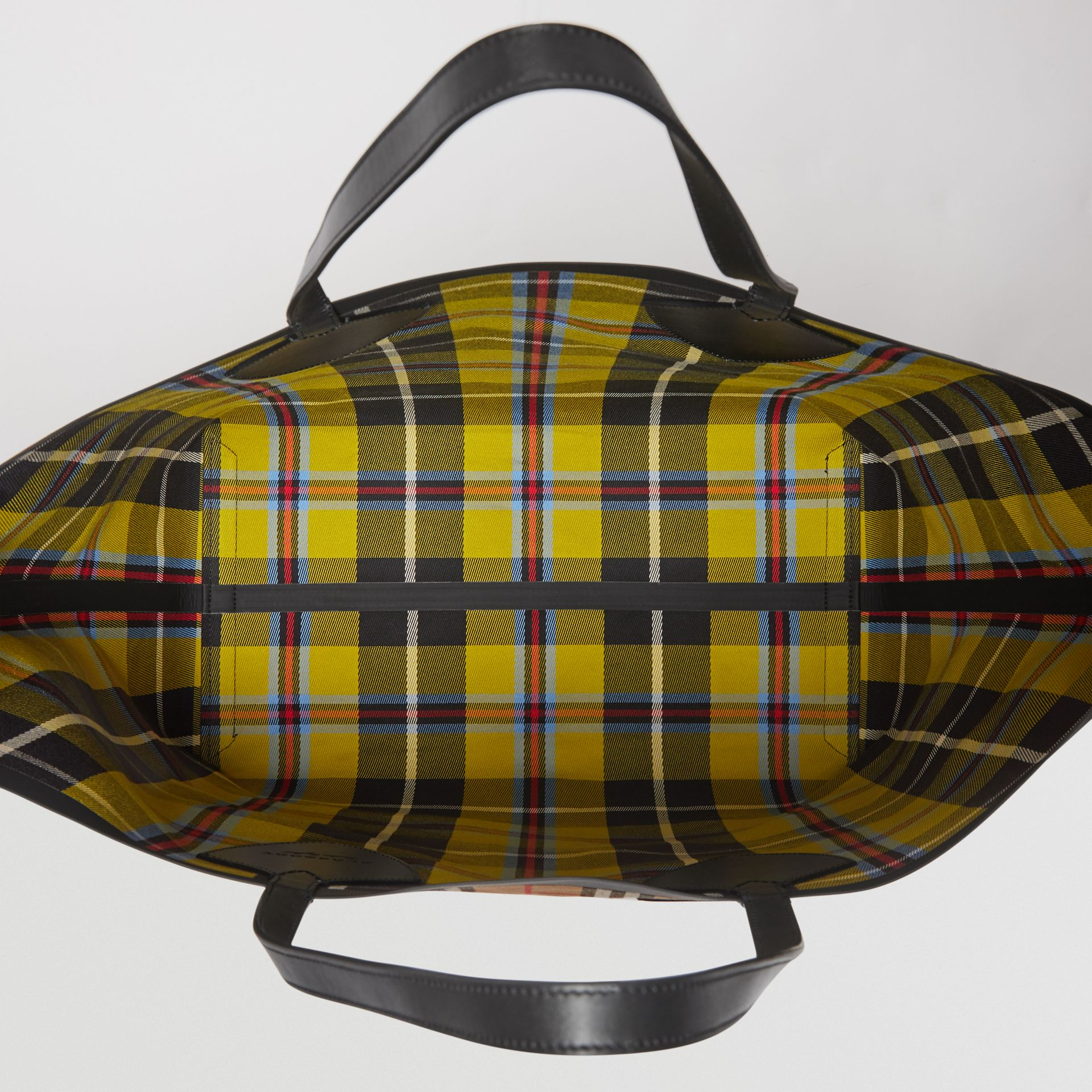 Sac tote The Giant réversible en coton à motif Vintage check (Jaune Antique) | Burberry - photo de la galerie 4