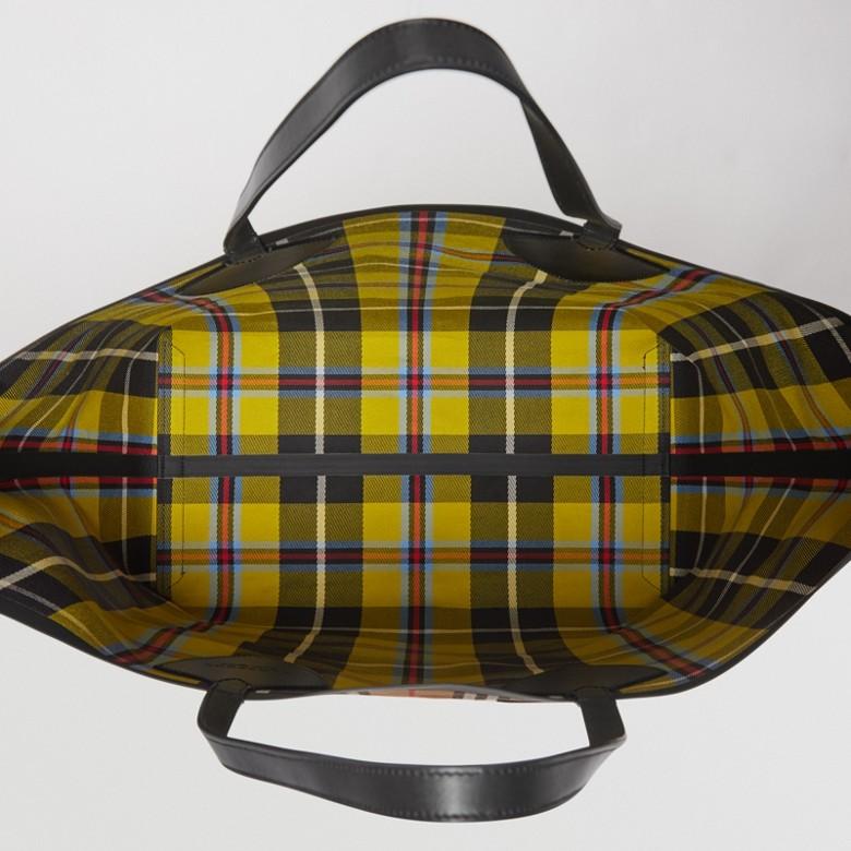 Burberry - Sac tote The Giant réversible en coton à motif Vintage check - 5