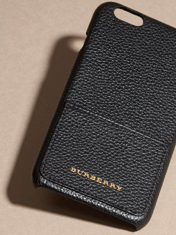Grainy Leather iPhone 6 Case in Black | Burberry - cell image 2