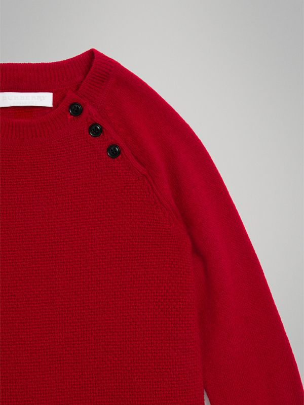 Cashmere Sweater Dress in Parade Red | Burberry - cell image 3