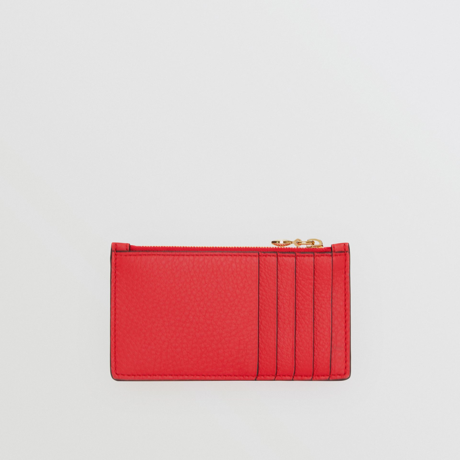Leather Zip Card Case in Bright Military Red | Burberry United Kingdom - gallery image 4