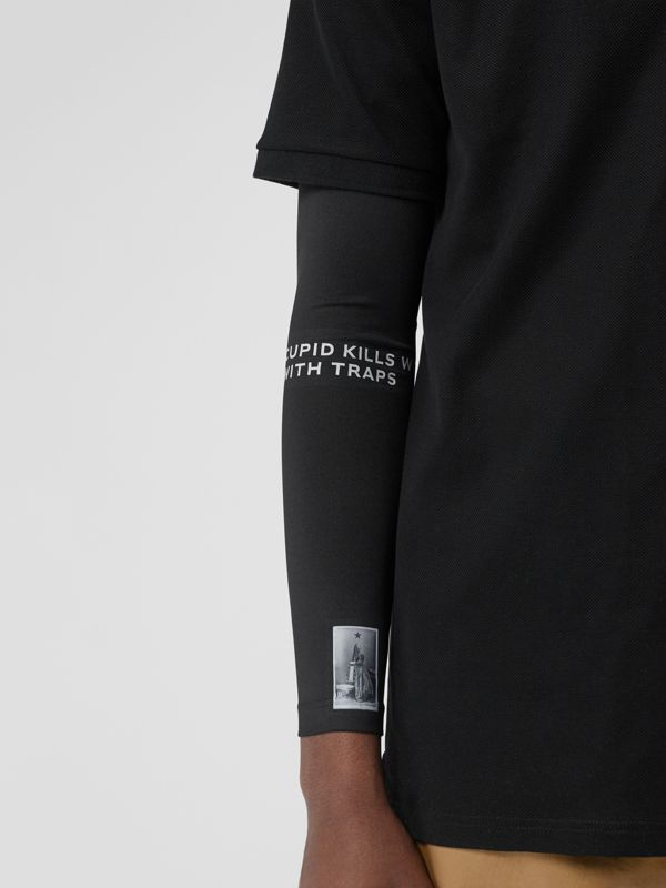 Montage Print Stretch Jersey Sleeves in Black - Men | Burberry - cell image 3