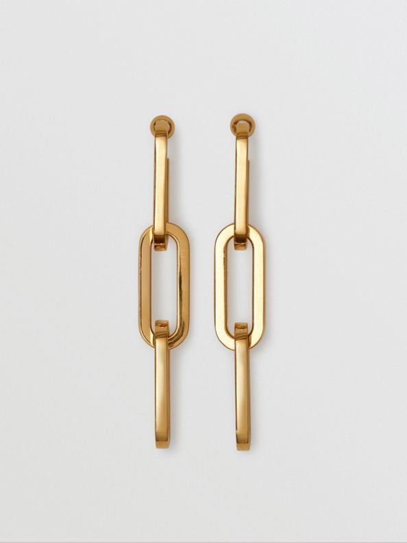 Gold-plated Link Drop Earrings in Light