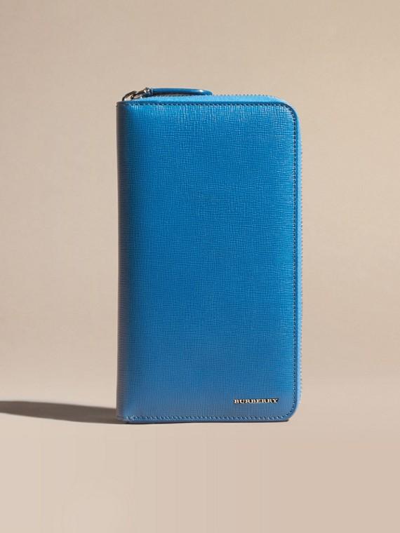 Bleu minéral Portefeuille zippé en cuir London - cell image 2