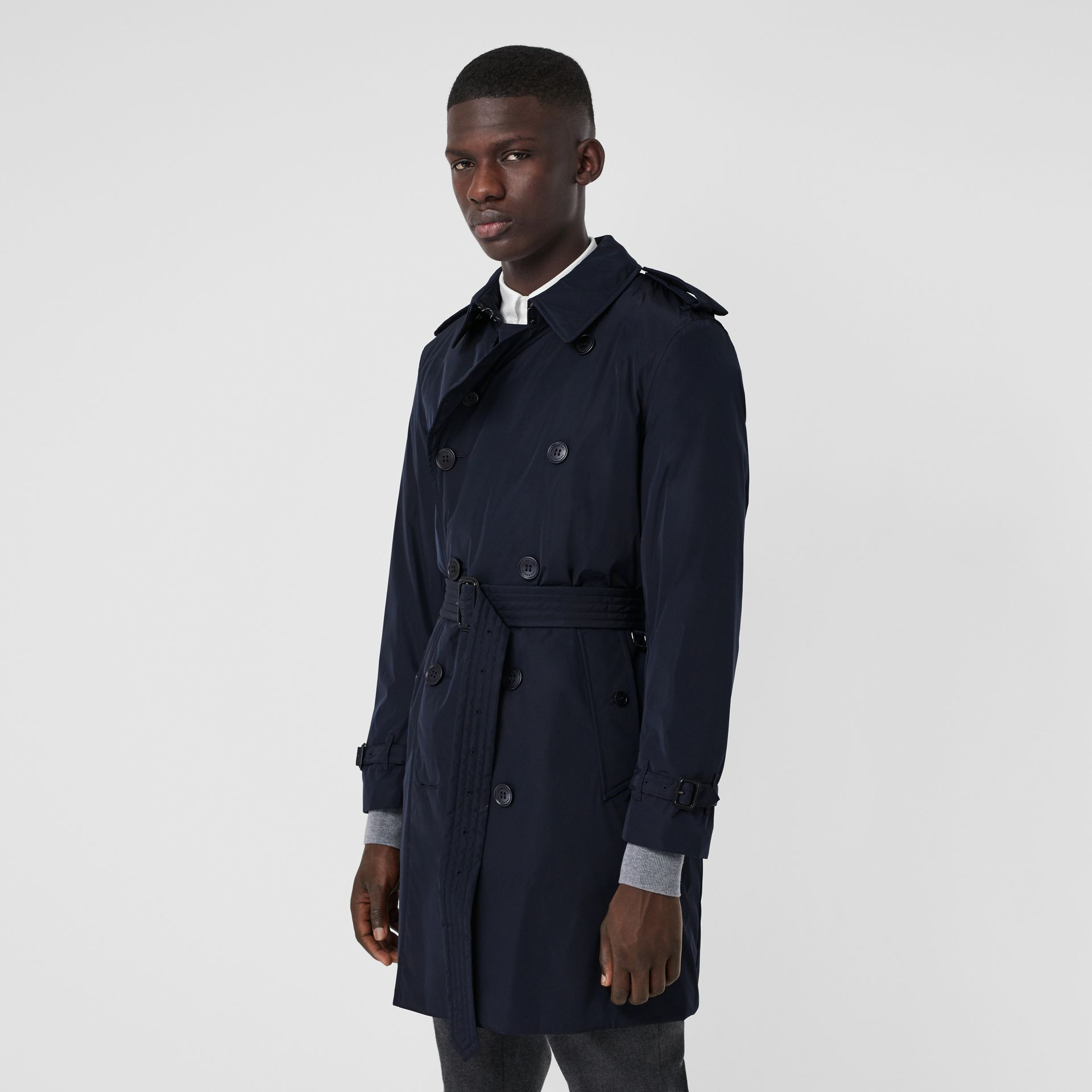 Quilt-lined Nylon Trench Coat in Ink - Men | Burberry - gallery image 5