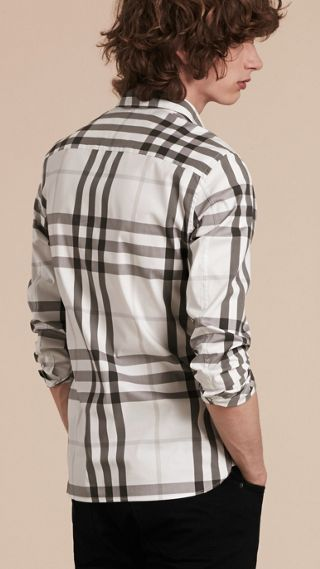 Check Stretch Cotton Shirt