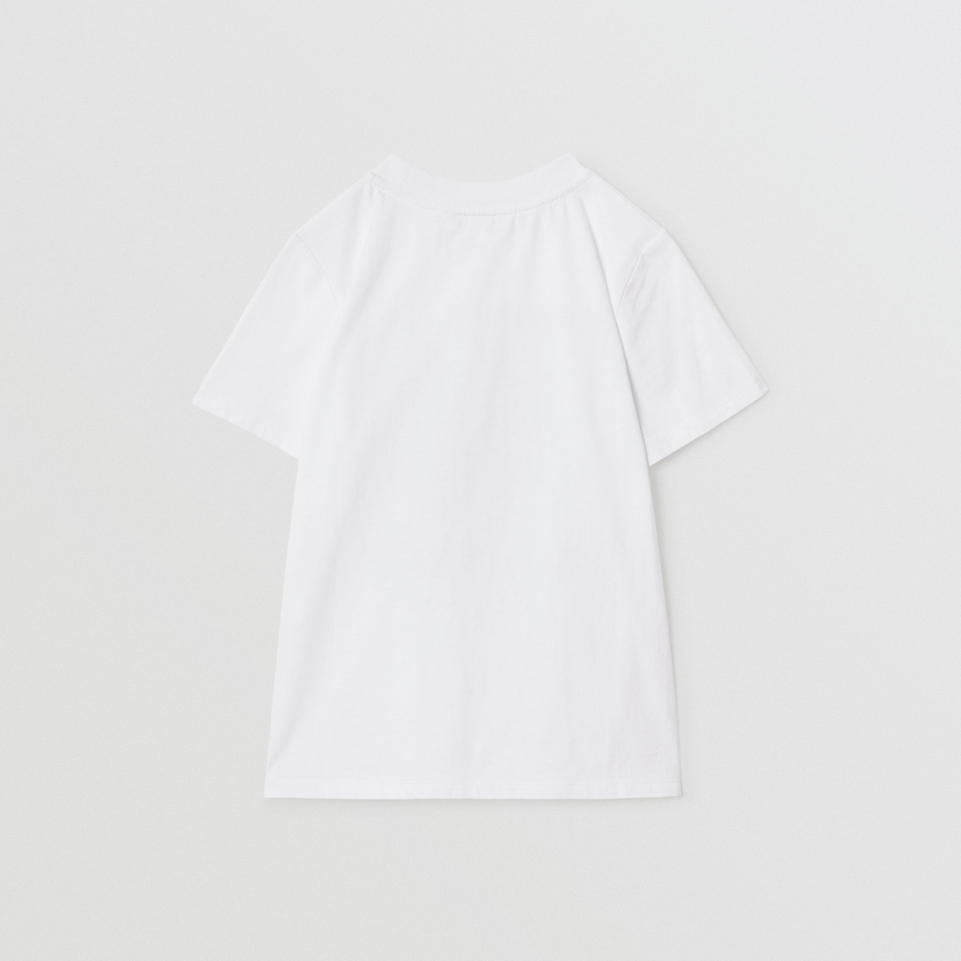 Vintage Polaroid Print Cotton T-shirt in White | Burberry - gallery image 4
