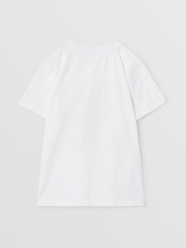 Vintage Polaroid Print Cotton T-shirt in White | Burberry - cell image 3