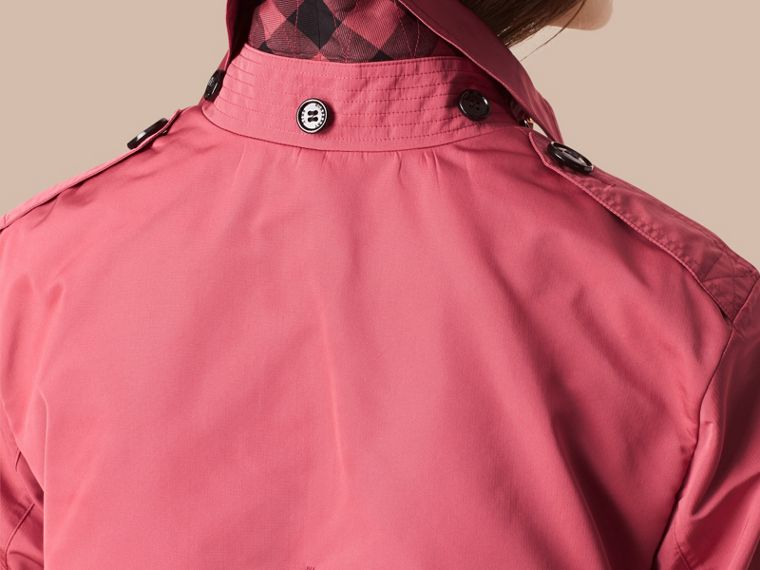 Bright copper pink Showerproof Trench Coat with Detachable Hood Bright Copper Pink - cell image 1
