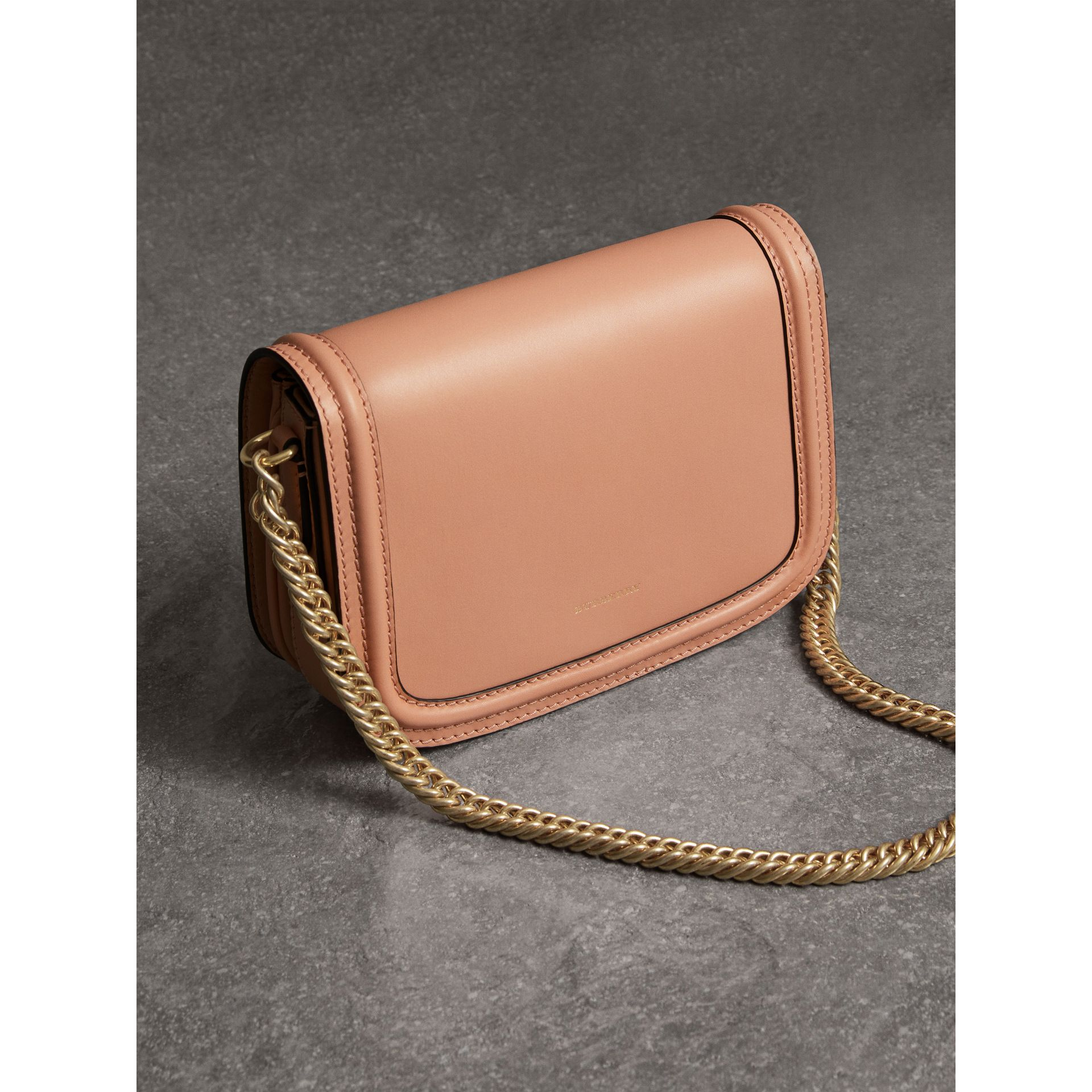 The Leather Link Bag in Peach - Women | Burberry United Kingdom - gallery image 3
