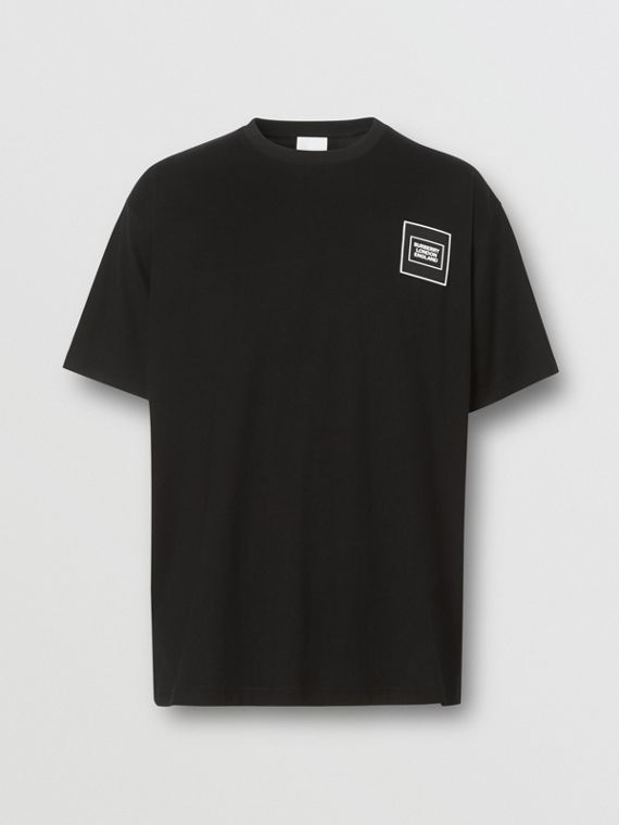 Logo Appliqué Cotton T-shirt in Black