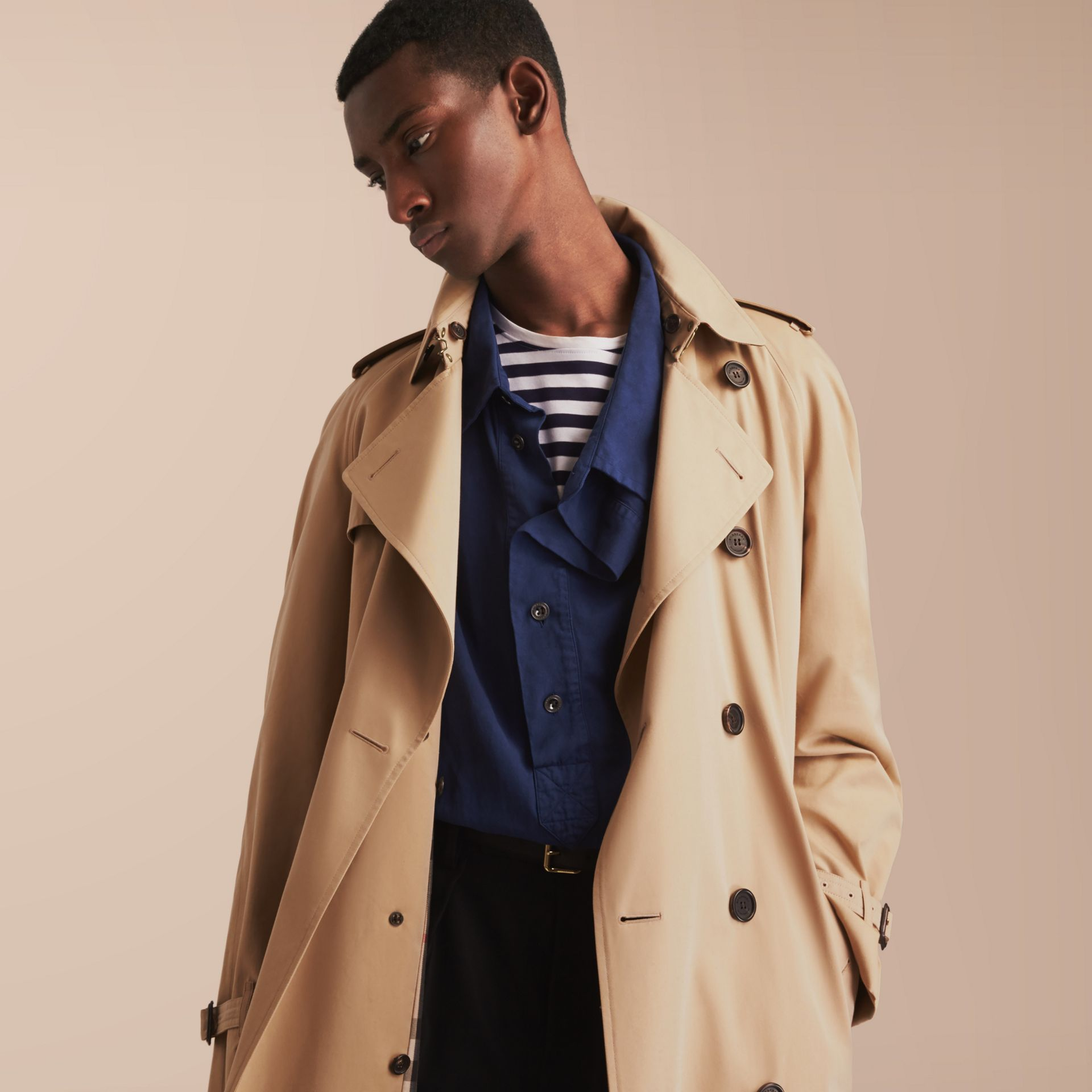 The Westminster – Long Heritage Trench Coat in Honey - gallery image 7