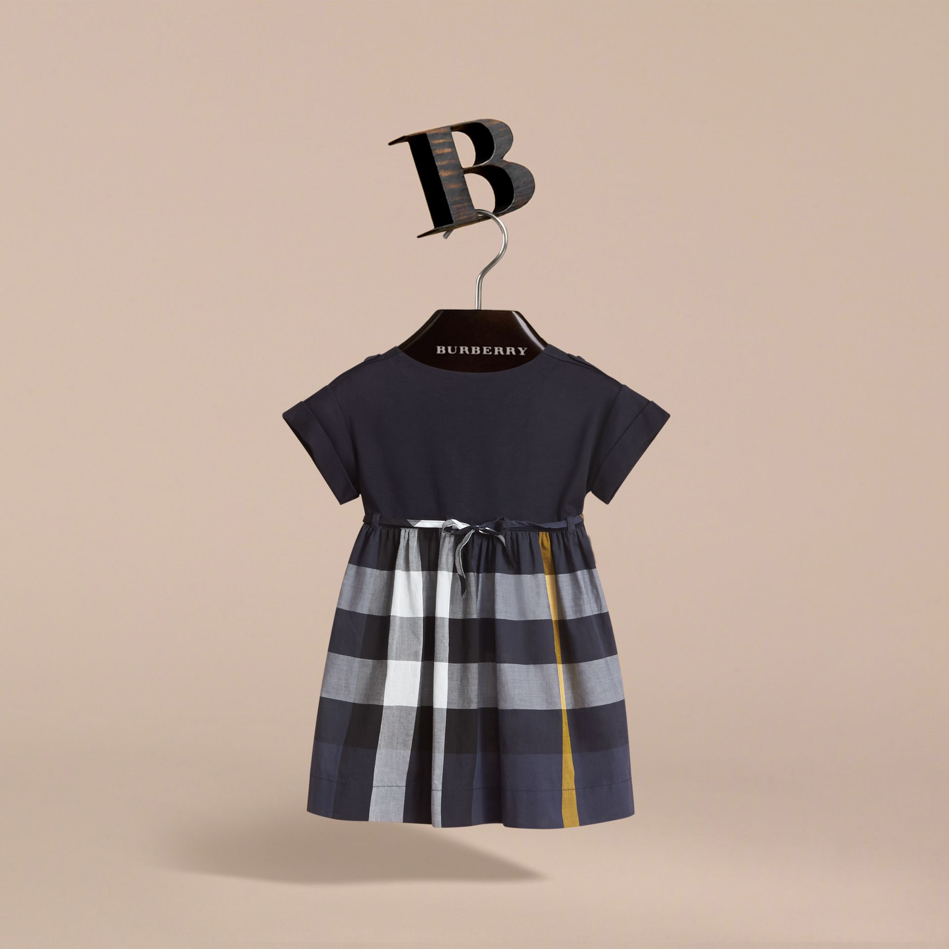 Cap Sleeve Check Cotton Dress - Girl | Burberry Australia - gallery image 3