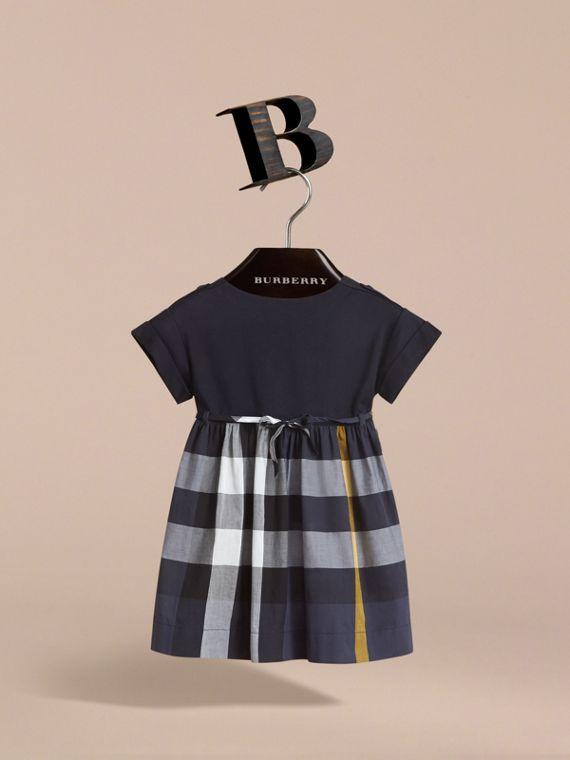Cap Sleeve Check Cotton Dress - Girl | Burberry Canada - cell image 2