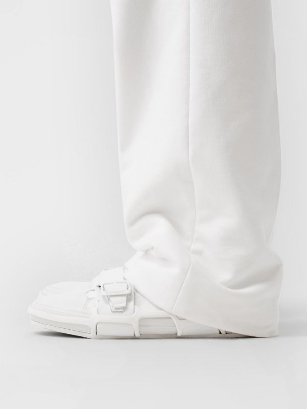 Cotton and Leather Webb Sneakers in White | Burberry United Kingdom - cell image 2