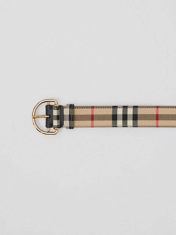 Vintage Check Cotton Blend D-ring Belt in Archive Beige - Women | Burberry - cell image 1
