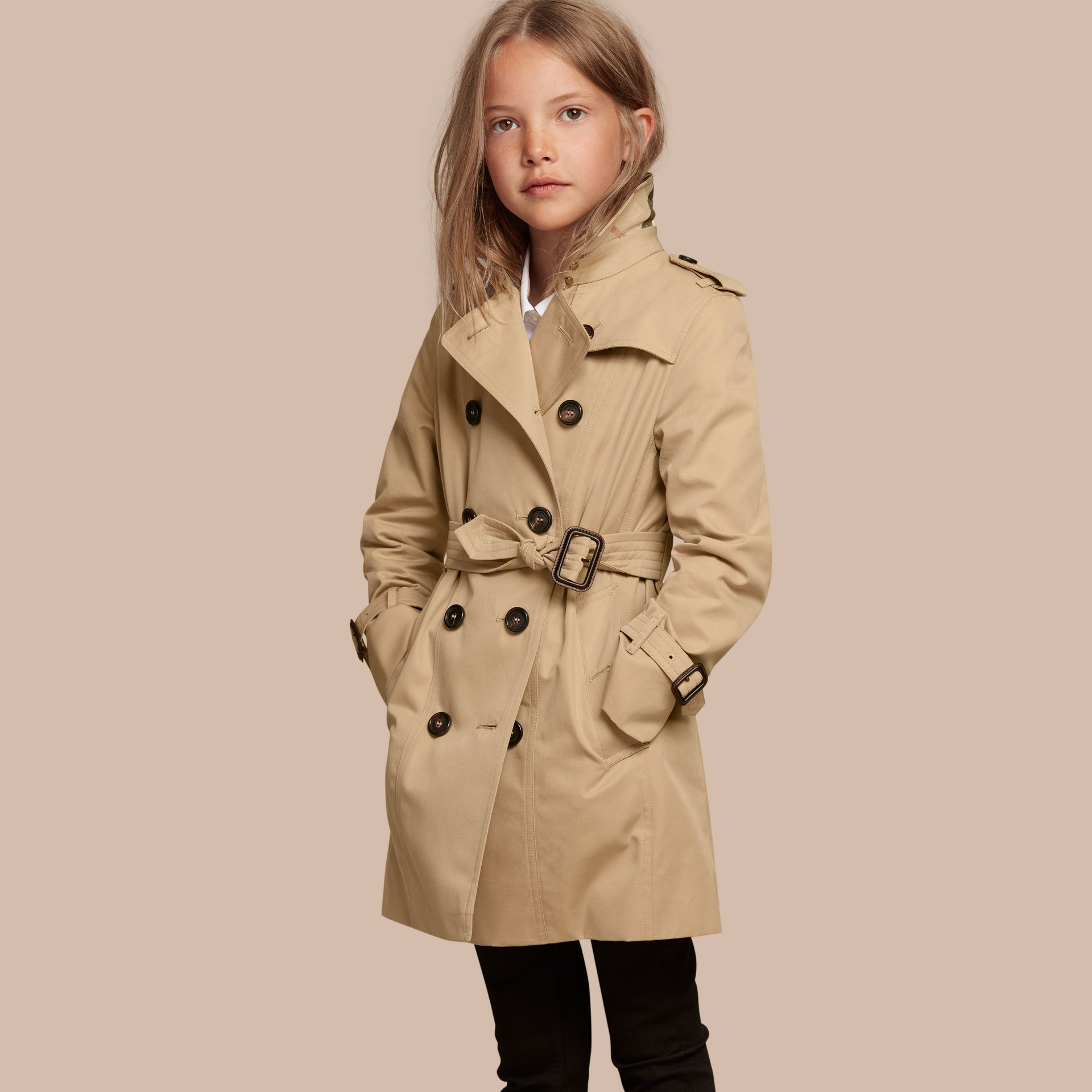 The Sandringham – Heritage Trench Coat in Honey - Girl | Burberry - gallery image 1
